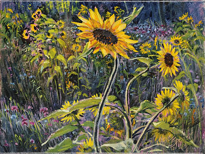 Painting - Sunfloral by Steve Spencer