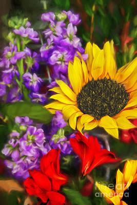 Photograph - Sunflower - Watercolor Art by Ed Churchill