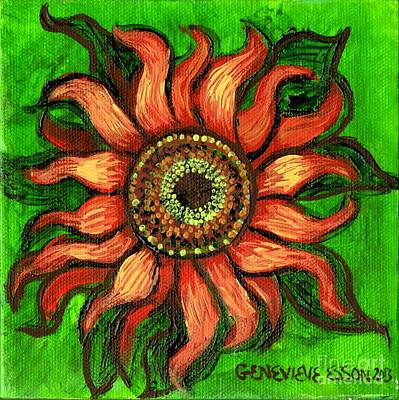 Sunflower 1 Art Print by Genevieve Esson