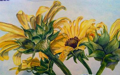 Painting - Sunflower 4 by Diane Ziemski