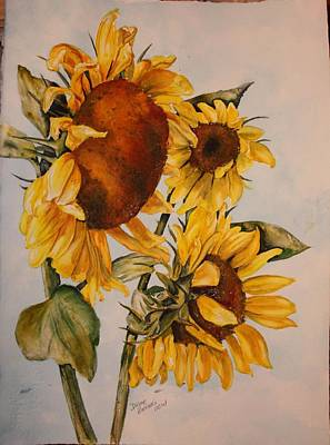 Painting - Sunflower 5 by Diane Ziemski