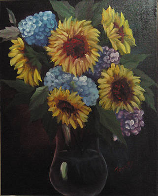 Sunflower Arrangement Original by Samuel Jaycox