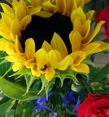 Photograph - Sunflower Bouquet by Peg Toliver