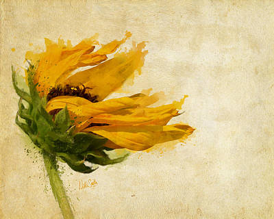 Waiting Girl Digital Art - Sunflower Breezes by Nikki Marie Smith