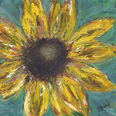 Sunflower Burst Original by Debbie  Saenz