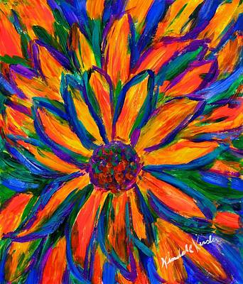 Painting - Sunflower Burst by Kendall Kessler