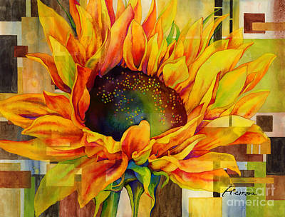 Painting Rights Managed Images - Sunflower Canopy Royalty-Free Image by Hailey E Herrera