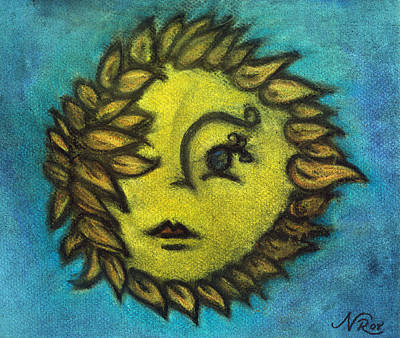 Sunflower Child Art Print by Natalie Roberts
