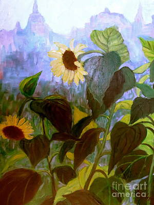 Painting - Sunflower City by Gretchen Allen