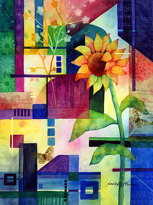 Sunflower Collage 2 Art Print by Hailey E Herrera