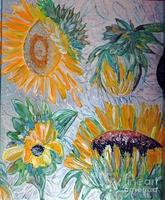 Painting - Sunflower Cycle Of Life 2 by Vicky Tarcau