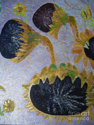 Painting - Sunflower Cycle Of Life 3 by Vicky Tarcau