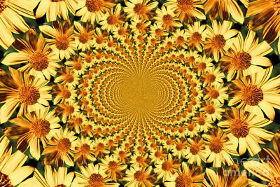 Sunflower Dance Art Print by Clare Bevan