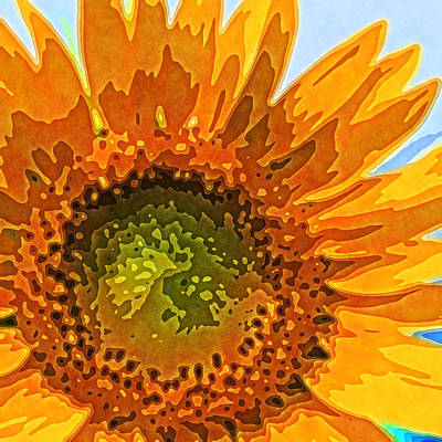 Sunflower Art Print by David G Paul