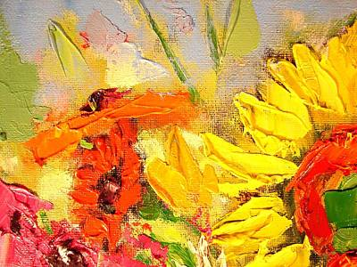 Art Print featuring the painting Sunflower Detail by Ana Maria Edulescu