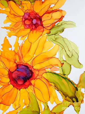 Sunflower Duo Art Print by Vicki  Housel