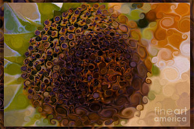 Sunflowers Mixed Media - Sunflower Extreme Makeover Abstract Painting by Omaste Witkowski