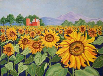 Painting - Sunflower Farm by Ruth Soller
