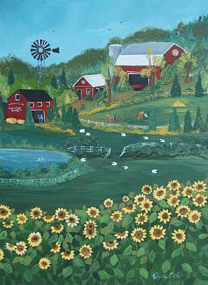 Painting - Sunflower Farm by Virginia Coyle
