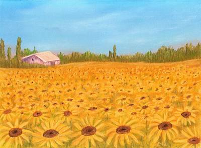 Sunflower Field Art Print by Anastasiya Malakhova