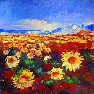 Painting - Sunflower Field by Elise Palmigiani