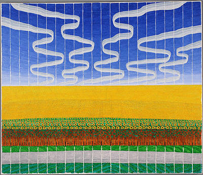 Painting - Sunflower Fields by Jesse Jackson Brown