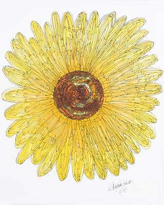 Sunflower For Mom Chapman Art Print by Kristi Chapman