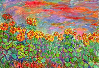 Painting - Sunflower Frenzy by Kendall Kessler