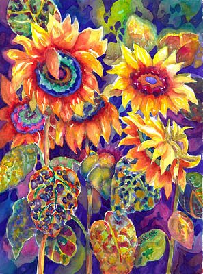 Painting - Sunflower Garden by Ann  Nicholson
