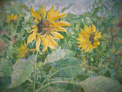 Painting - Sunflower Garden by Bart DeCeglie