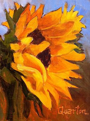 Painting - Sunflower Girls #2 by Lori Quarton
