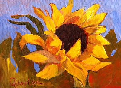 Painting - Sunflower Girls #3 by Lori Quarton
