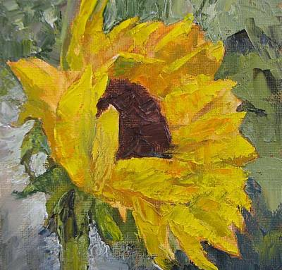 Painting - Sunflower Girls 4 by Lori Quarton