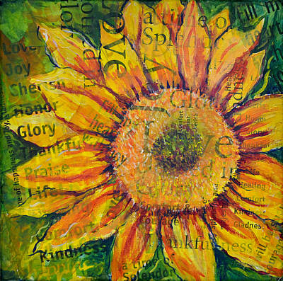 Painting - Sunflower Glory by Lisa Fiedler Jaworski