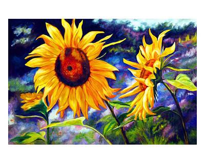 Gustavo Oliveira Painting - Sunflower by Gustavo Oliveira
