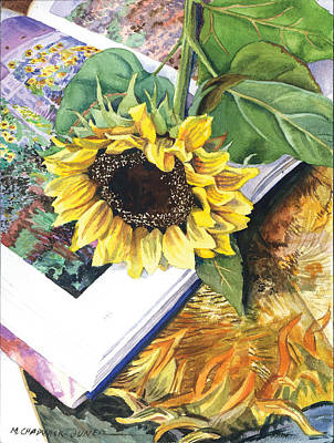 Painting - Sunflower Hat Trick by Marguerite Chadwick-Juner