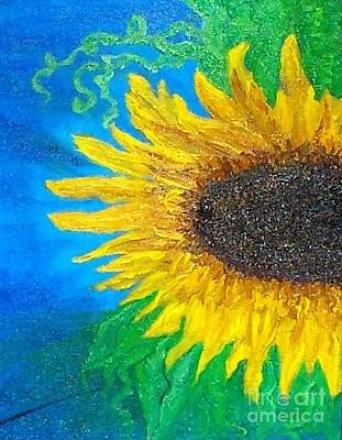 Sunflower Art Print by Holly Martinson