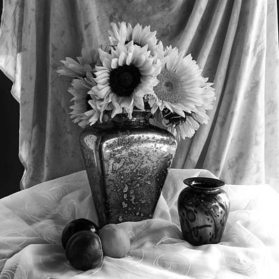Photograph - Sunflower In Black And White by Sandra Selle Rodriguez