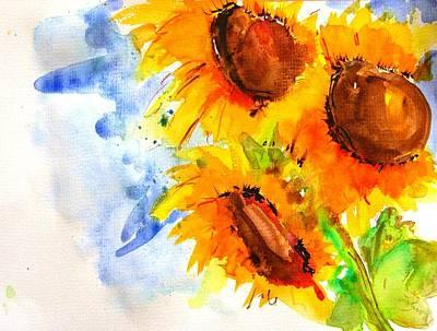 Painting - Sunflower by Jacqueline Schreiber