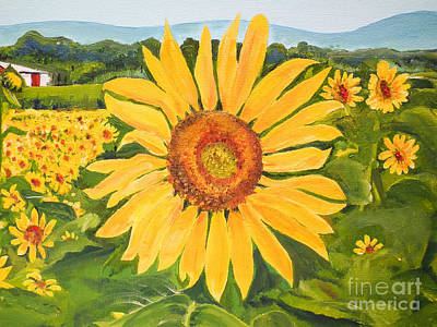 Painting - Sunflower - Burst Of Color  by Jan Dappen