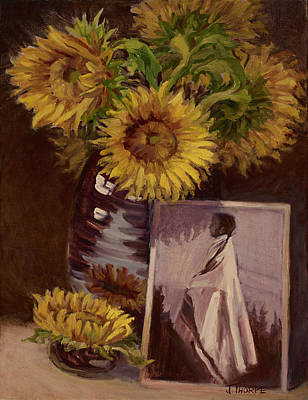 Indian Maiden Painting - Sunflower by Jane Thorpe