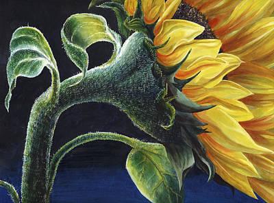 Sunflower Garden Painting - Sunflower by Karen Wright