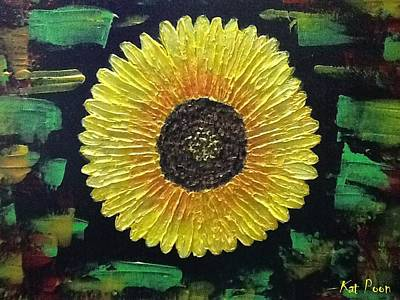 Sunflower Art Print by Kat Poon