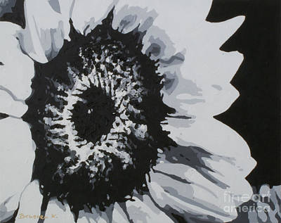 Sunflower Art Print by Katharina Filus