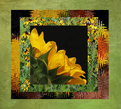 Photograph - Sunflower Layers by Judy Vincent