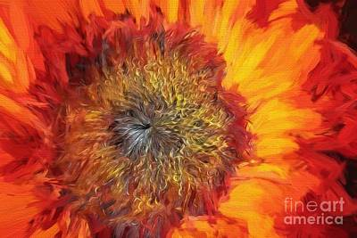 Painting - Sunflower Lv by Charles Muhle