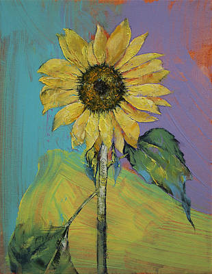 Flor Painting - Sunflower by Michael Creese