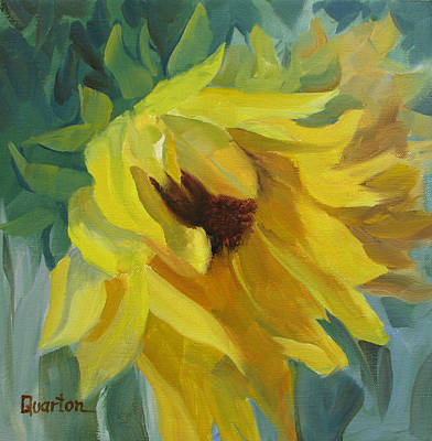 Painting - Sunflower Morning by Lori Quarton