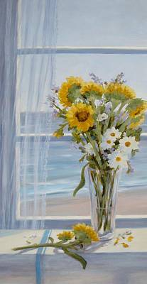 Sunflower Morning Original by Tina Obrien