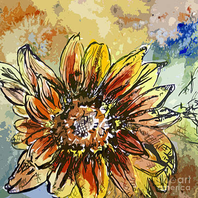 Painting - Sunflower Moroccan Eyes by Ginette Callaway